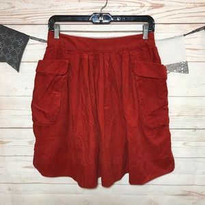 Maeve Effortless Corduroy Mini Flared Skirt Size 2